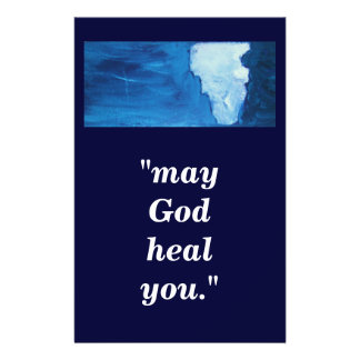 """may God heal you."" 14 Cm X 21.5 Cm Flyer"