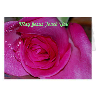 May Jesus touch you Greeting Card