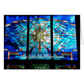 May Jesus touch your heart Greeting Card