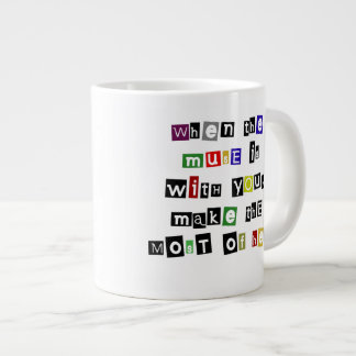 May the muse be with you large coffee mug