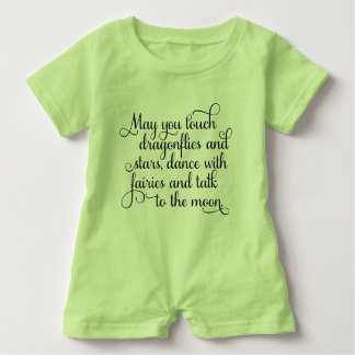 May you dance with fairies Irish Blessing Baby Bodysuit
