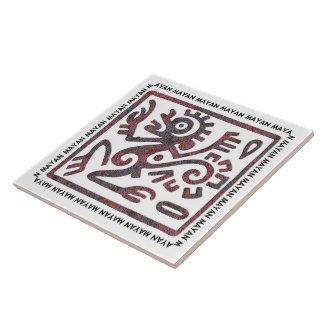 Mayan Monkey Symbol Tile
