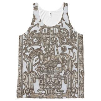 Mayan Ruler Pakal Kim All-Over Print Singlet