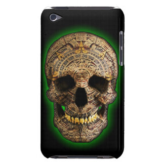 Mayan Skull by Hellmet design District iPod Case-Mate Cases