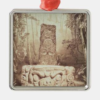 Mayan temple, Honduras Christmas Ornament