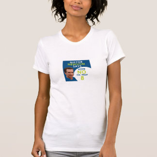 Mayor Newsom Says No on Prop 8 T-shirt for women