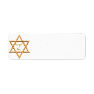 Mazel Tov/Good Luck Return Address Label