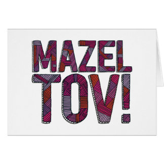Mazel Tov Patchwork Merlot Card