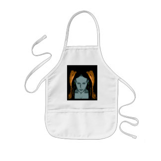 MB Cyber Chick Vector Art Apron
