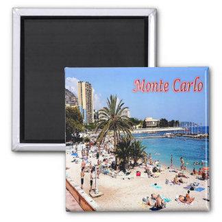MC - Monaco - Monte Carlo - Plage Square Magnet