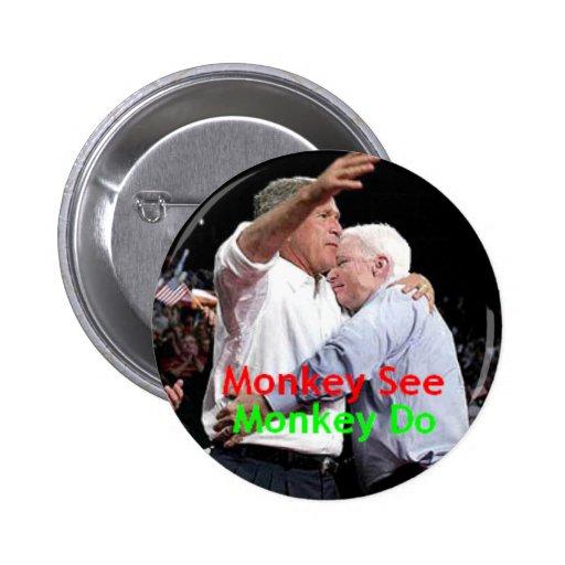 McCain Bush Hug Button