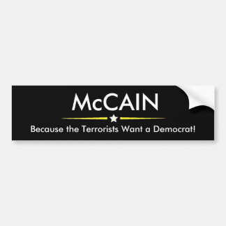 McCAIN for President Bumper Sticker