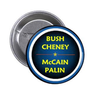 McCain Palin  BUSH Button