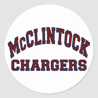 McClintock Chargers Round Sticker