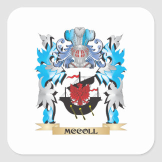 Mccoll Coat of Arms - Family Crest Square Sticker