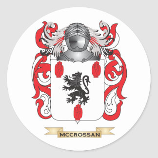 McCrossan Coat of Arms (Family Crest) Round Sticker