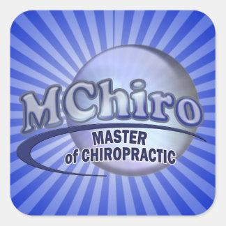MChiro Master of Chiropractic Medicine Blue Logo Square Sticker
