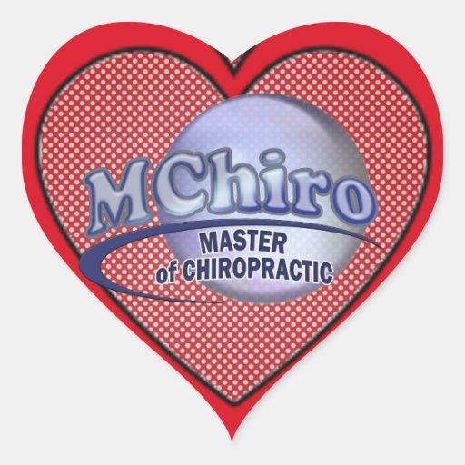 MChiro Master of Chiropractic Medicine Blue Logo Stickers