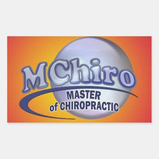 MChiro Master of Chiropractic Medicine Blue Logo Sticker