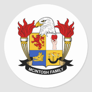 McIntosh Family Crest Round Sticker