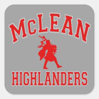 McLean Highlanders Square Sticker