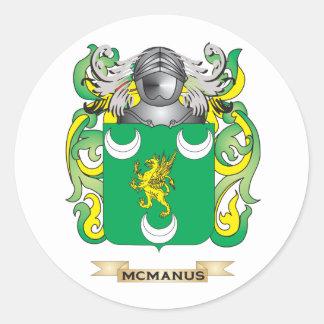 McManus Coat of Arms (Family Crest) Round Sticker