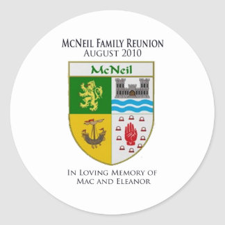 McNeil Family Reunion Classic Round Sticker