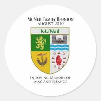 McNeil Family Reunion Round Sticker