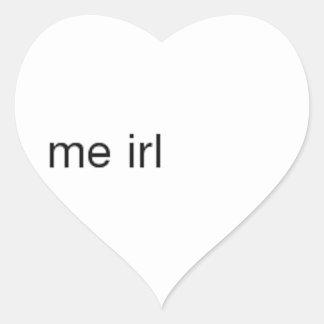 me irl heart sticker