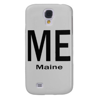 ME Maine plain black Galaxy S4 Case