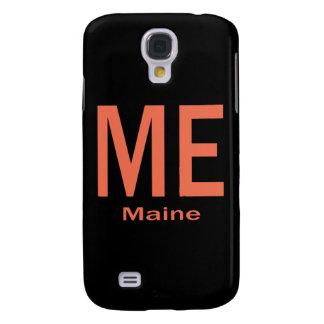 ME Maine plain orange Galaxy S4 Case