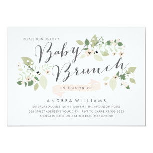 brunch baby shower invitations announcements zazzle co nz