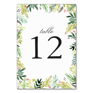 Meadow Wedding Table Cards