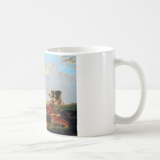 Meadow with cattle by Jacob van Strij Coffee Mug