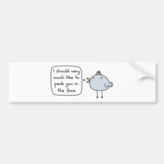 Mean Bird Bumper Sticker