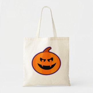 Mean Jack-O-Lantern Halloween Trick or Treat Bag