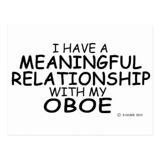 Meaningful Relationship Oboe Postcard