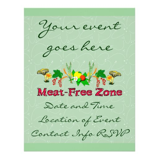 Meat-Free Zone Flyer Design