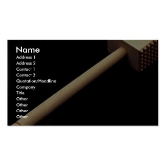 Meat tenderizing mallet in wood business card template