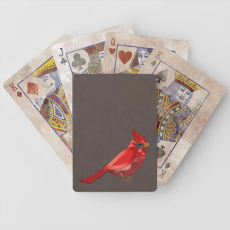 Mechanical Steampunk Cardinal in Faux Metallics Bicycle Playing Cards