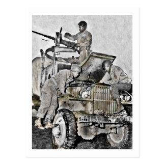 Mechanics Working on Truck WWII Postcard