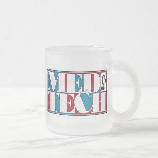 MED TECH LABORATORY BLOCK LOGO FROSTED GLASS MUG