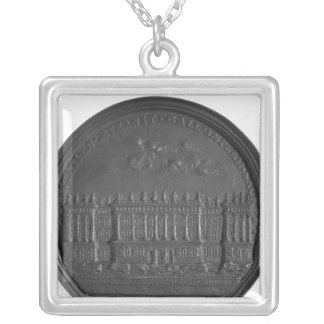 Medal with Bernini's design for the Louvre Silver Plated Necklace