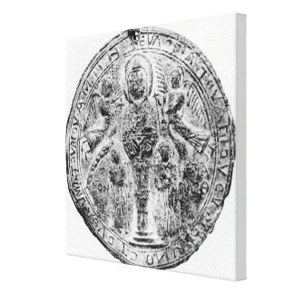 Medallion decorated in the cloisonne technique canvas print