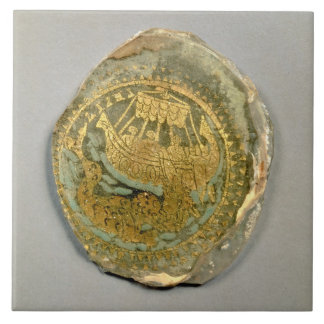 Medallion depicting Jonah and the whale, Roman, 4t Tile