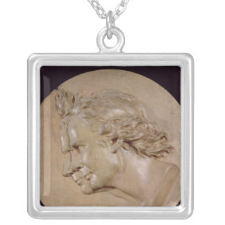Medallion depicting Joseph  and Etienne Silver Plated Necklace