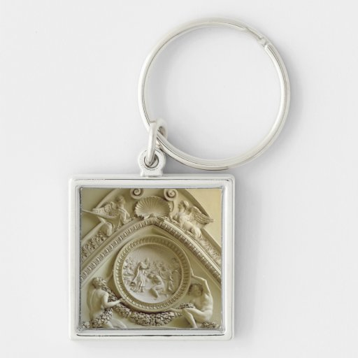 Medallion depicting the Baptism of Constantine Key Chain
