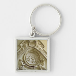 Medallion depicting the Baptism of Constantine Silver-Colored Square Key Ring