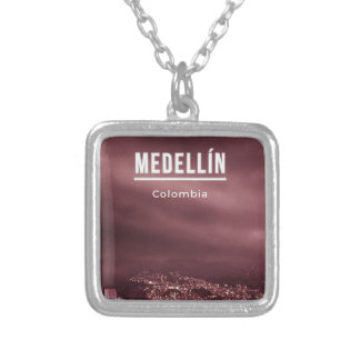 Medellin Colombia Silver Plated Necklace