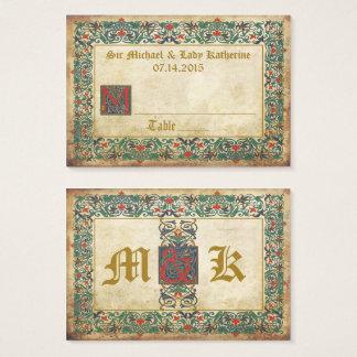 Mediaeval Manuscript Goth Wedding Place Cards